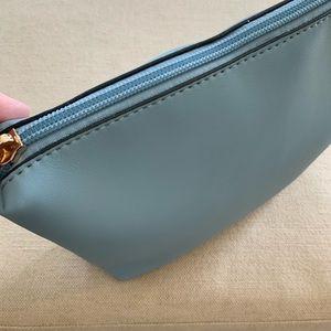 Clark's Cosmetic Bag; Porcelain Blue Vegan Leather